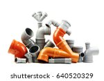 composition from plastic sewer... | Shutterstock . vector #640520329