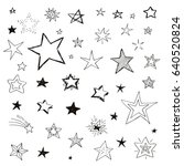set of doodle stars  vector... | Shutterstock .eps vector #640520824