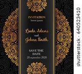 vector luxury wedding... | Shutterstock .eps vector #640523410
