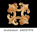 gold ornament on a black...   Shutterstock . vector #640527970
