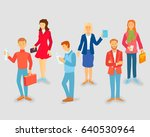 young style people with gadgets ...   Shutterstock .eps vector #640530964