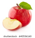 fresh apple with leaf | Shutterstock . vector #640536160