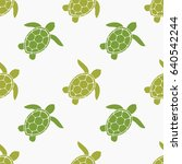 green sea turtles seamless... | Shutterstock .eps vector #640542244