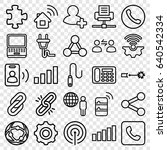 connection icons set. set of 25 ... | Shutterstock .eps vector #640542334