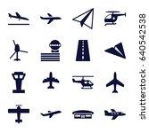 aviation icons set. set of 16...   Shutterstock .eps vector #640542538