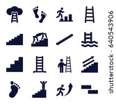 step icons set. set of 16 step... | Shutterstock .eps vector #640543906