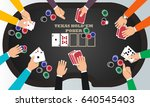 people playing poker around a...   Shutterstock .eps vector #640545403