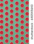 grapefruit pattern isolated on... | Shutterstock . vector #640545643