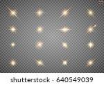 set. shining star  the sun... | Shutterstock .eps vector #640549039