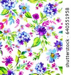 bright and colorful seamless... | Shutterstock . vector #640551958