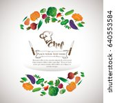 logo chef  vegetable set | Shutterstock .eps vector #640553584