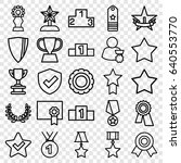set of 25 award outline icons... | Shutterstock .eps vector #640553770