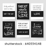 set of templates for cards with ... | Shutterstock .eps vector #640554148
