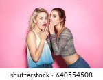 two young beautiful females in... | Shutterstock . vector #640554508