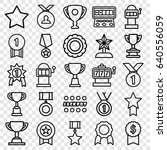 set of 25 prize outline icons... | Shutterstock .eps vector #640556059