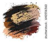 brown and black splashes and... | Shutterstock .eps vector #640556560