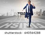 businessman in ambition and...   Shutterstock . vector #640564288