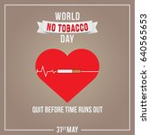 world no tobacco day... | Shutterstock .eps vector #640565653