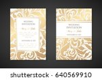 vintage wedding invitation... | Shutterstock .eps vector #640569910