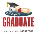 sad picture about a graduate....   Shutterstock .eps vector #640572109