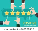customer review give a five... | Shutterstock .eps vector #640573918