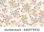 seamless folk pattern in small...   Shutterstock .eps vector #640573933