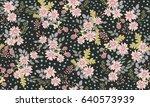 seamless folk pattern in small...   Shutterstock .eps vector #640573939