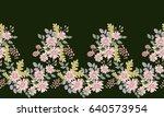seamless folk border in small... | Shutterstock .eps vector #640573954
