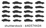 car silhouette set vector | Shutterstock .eps vector #640574434
