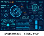 futuristic virtual graphic... | Shutterstock .eps vector #640575934