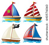 Four Designs Of Sailboats...