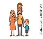 color crayon stripe cartoon... | Shutterstock .eps vector #640585510