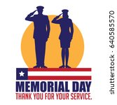 memorial day design with... | Shutterstock .eps vector #640585570