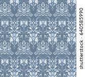 seamless vintage vector... | Shutterstock .eps vector #640585990