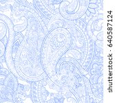 floral paisley pattern....   Shutterstock .eps vector #640587124