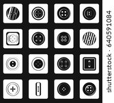 clothes button icons set in... | Shutterstock . vector #640591084