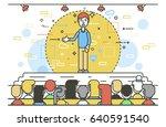 vector illustration orator... | Shutterstock .eps vector #640591540