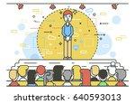 vector illustration orator... | Shutterstock .eps vector #640593013