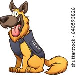 cartoon police dog. vector clip ... | Shutterstock .eps vector #640593826
