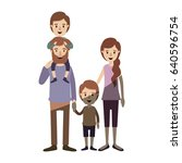 light color shading caricature... | Shutterstock .eps vector #640596754