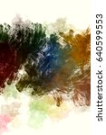 brushed painted abstract... | Shutterstock . vector #640599553