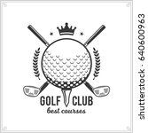 vector golf club logo | Shutterstock .eps vector #640600963