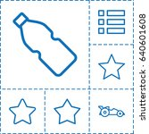ui icon. set of 6 ui outline...