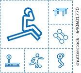 training icon. set of 6...   Shutterstock .eps vector #640601770