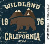 california vintage style... | Shutterstock . vector #640603810