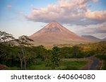 arenal volcano in costa rica ...   Shutterstock . vector #640604080