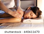 body massage and spa treatment... | Shutterstock . vector #640611670