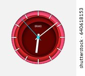 abstract clock face design.... | Shutterstock .eps vector #640618153
