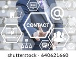 contact us communication social ... | Shutterstock . vector #640621660