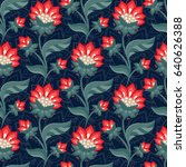 floral seamless pattern ... | Shutterstock .eps vector #640626388